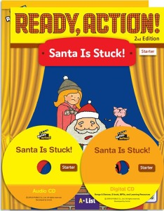 Ready, Action! Starter :Santa Is Stuck! Pack [Drama Book (with Audio CD+Digital CD)+Workbook]